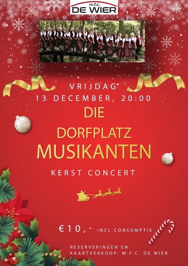 Die dorfplatz musikanten Kerst 2019